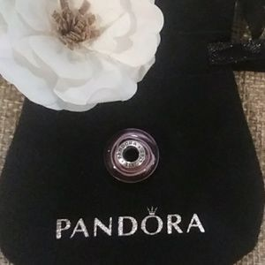 Pandora Pink Ribbon Murano Bead